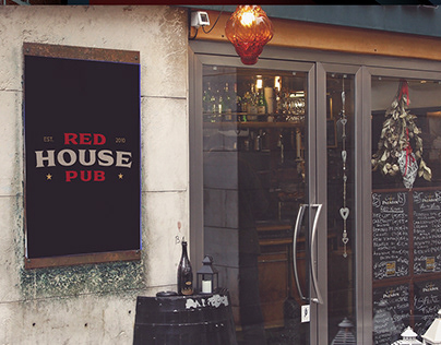 """RED HOUSE PUB"" logo"
