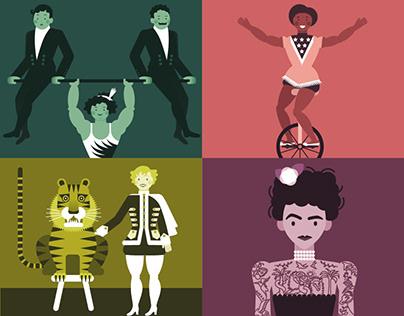 The Midnight Circus, animation.