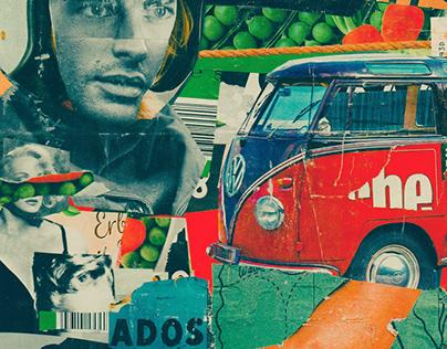 Peas rally // Analog collage