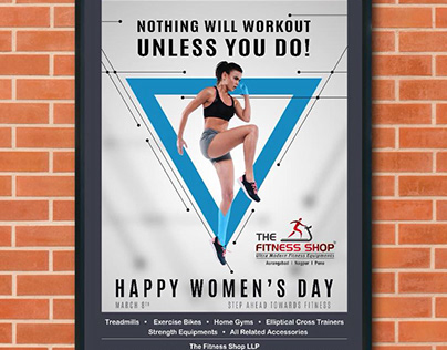Ad designed for The Fitness Shop