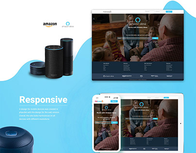 Landing Page for Amazon Alexa app