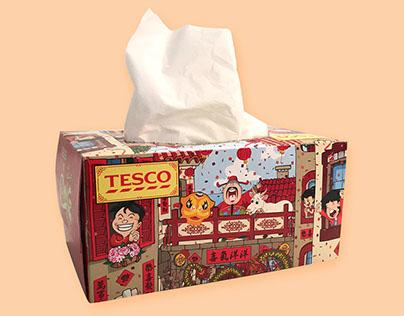 Tesco Chinese New Year Tissue Box 2015