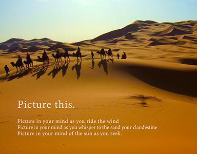 """Morocco, imagines you."""