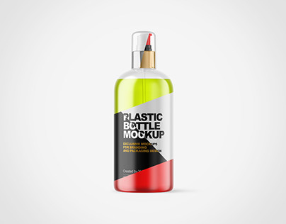 Cosmetic Bottle with Pump PSD Mockups