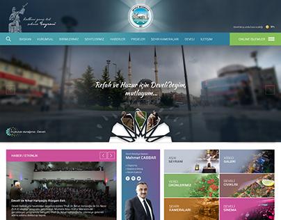 Develi Belediyesi Web Sitesi Tasarımı