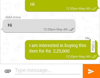 Peer-to-peer chat feature for OLX Android mobile app