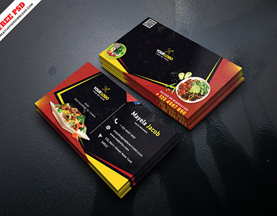 Creative Restaurant Business Card Free PSD