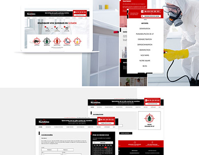 Webdesign disinfection insect