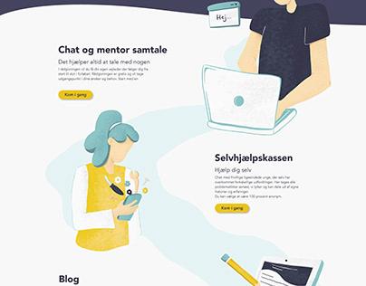 Ung til Ung Websitedesign