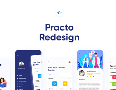 Medical App Redesign - Practo