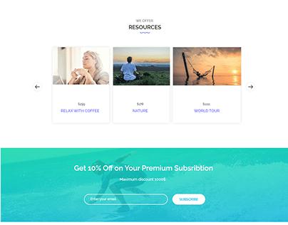 Tourism web design