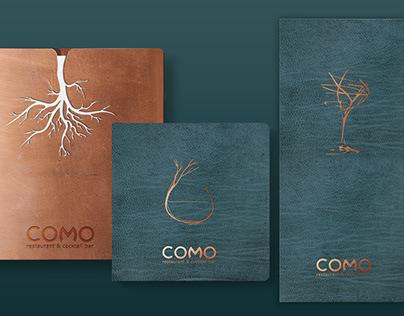COMO restaurant and cocktail bar menus