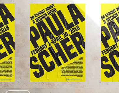 Typographic Poster tribute to Paula Scher