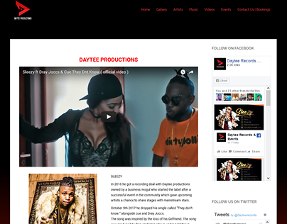 Daytee Records Website Design / Development