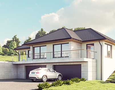 SINGLE FAMILY HOUSE - EXTERIOR CGI