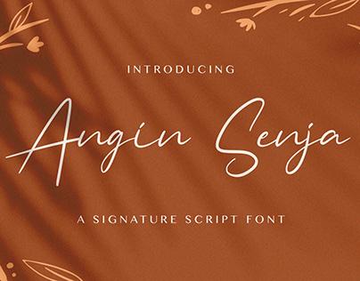 Angin Senja - Handwritten Font