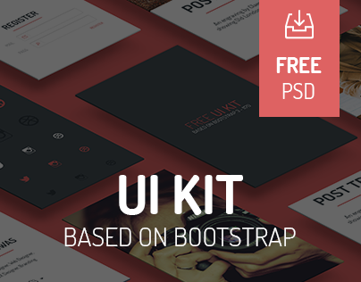Free UI KIT based on bootrstrap!
