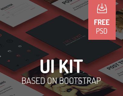 Free UI KIT based on bootrstrap!