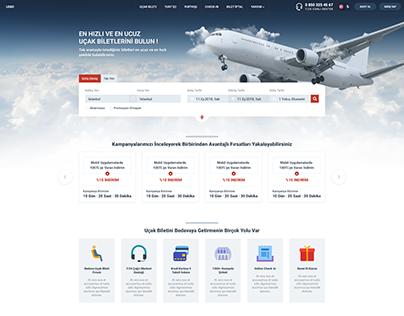 Uçak Bileti - Arayüz Tasarımı