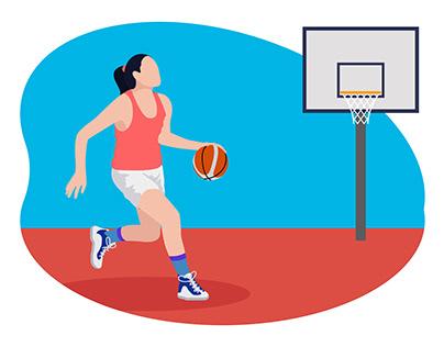 Female basketball player 👇