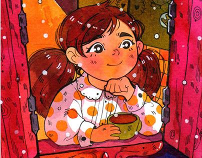 'Penny Christmas to you' - postcard set