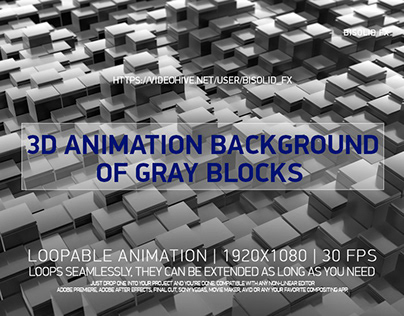 Background Of Gray 3D Blocks