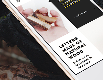 Cut of Wood: simple imagery focused website