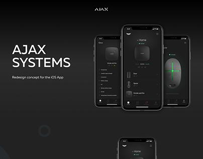 Ajax systems app design concept