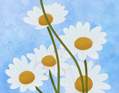Floral Finger Paintings