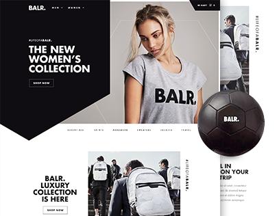 Balr体育运动品牌网站设计