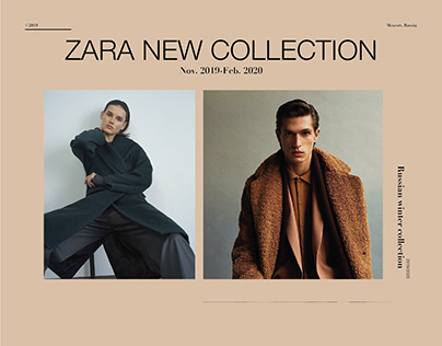 Zara new collection landing page