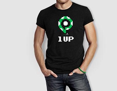 1 UP // T Shirt Design