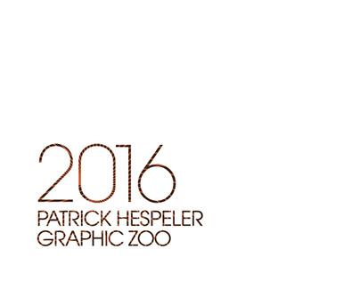 "ILLUSTRATIONS CALENDAR 2016 ""GRAPHIC ZOO"""