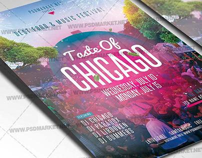 Taste of Chicago Flyer - PSD Template