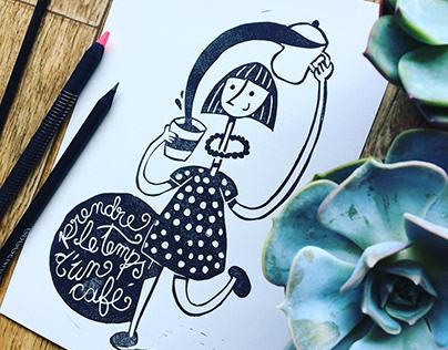 Gravures de mes illustrations