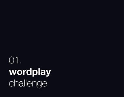 01. wordplay challenge