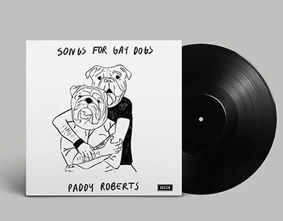 """Cover for """" Songs for Gay Dogs"""" by Paddy Roberts"""
