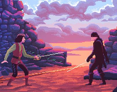 Pixel Art Movie Scenes