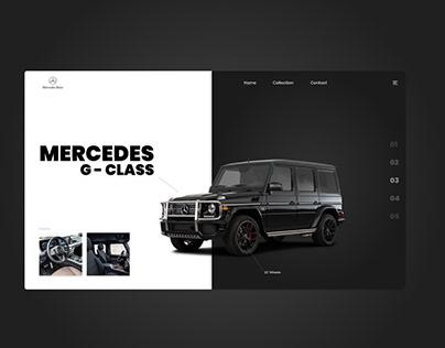 Product design / mercedes g-class/ website
