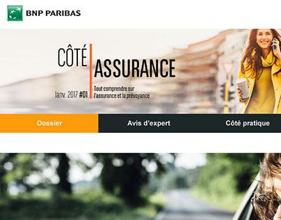 Push mail et Landing Page pour BNP PARIBAS