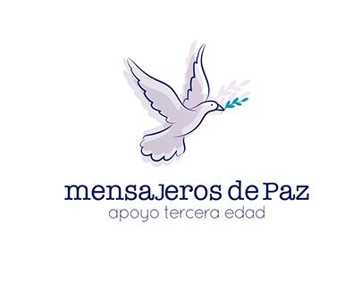 mensajeros de paz branding design