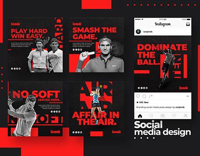 Tennis Social Media Design | Banner Design