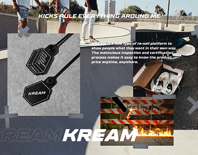 KREAM Brand Identity & Certificate Package Design