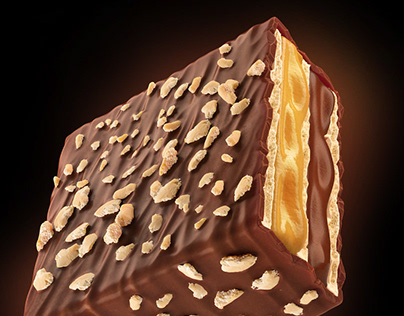 Chocolate Biscuit Bar Render