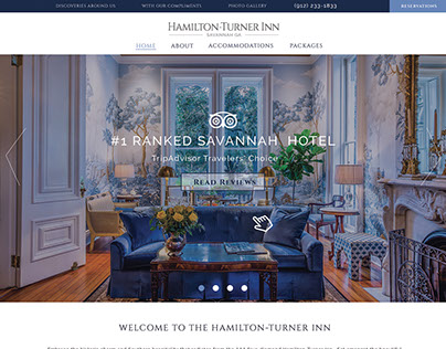 Website Design - Hamilton-Turner Inn