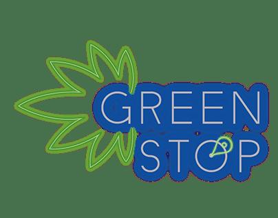 Neon logo for a cannabis business