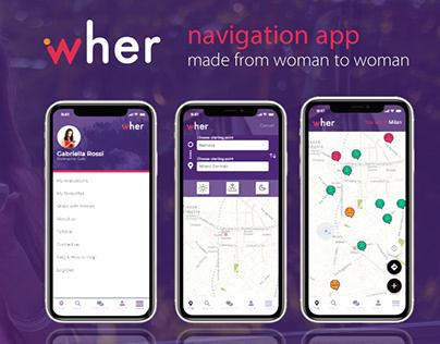 UX Design - Wher app