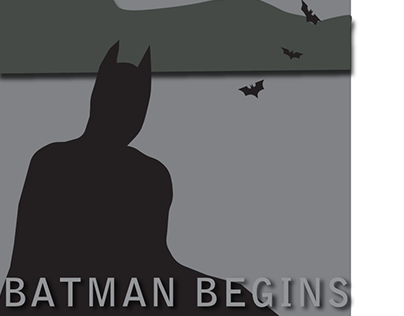 Batman Begins Minimalist Movie Poster Project