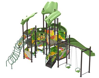 """""""Tropikana"""" design conceptof play and sports areas"""