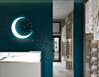 Concept of watches showroom